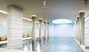 Monaco-Penthouse-indoor-swimming-pool-with-columbs-and-sperical-skylight1