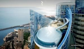 Monaco-Penthouse-outdoor-rooftop-infinity-pool-with-ocean-views