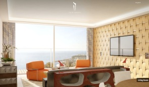 Monaco-Penthouse-retro-inspred-sitting-area-with-ocean-views